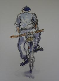 Fran Bunting - Man On Bicycle